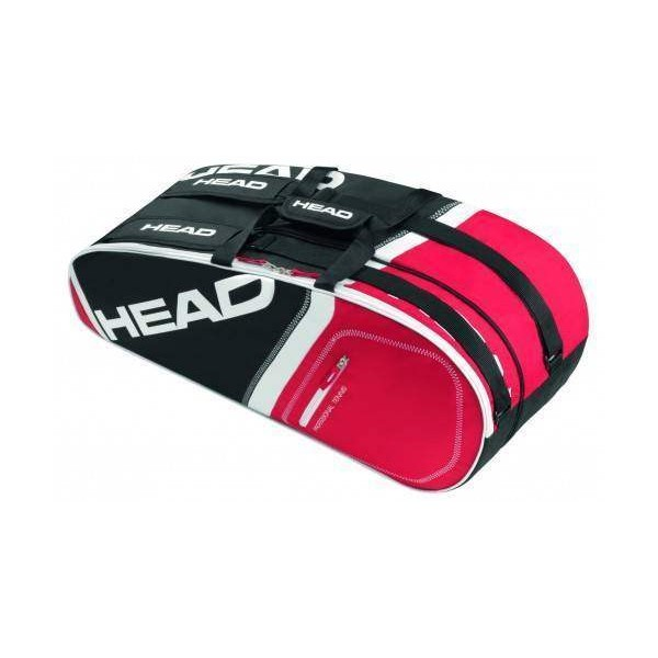 Head Core 6R Combi Tennis Kit Bag Red an...