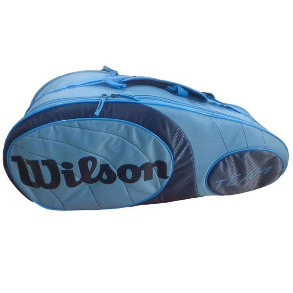 Wilson Team 6 PK Bag Tennis Kitbag Blue